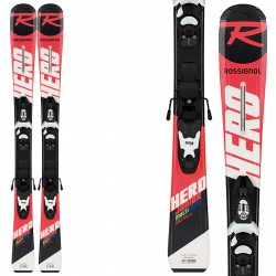 Ski Rossignol Hero Jr 100-130 + fixations Xpress Jr 7 B83
