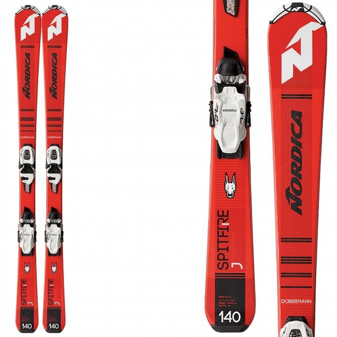 Esquí Nordica Spitfire J Fdt + fijaciones Jr 7.0 Fdt