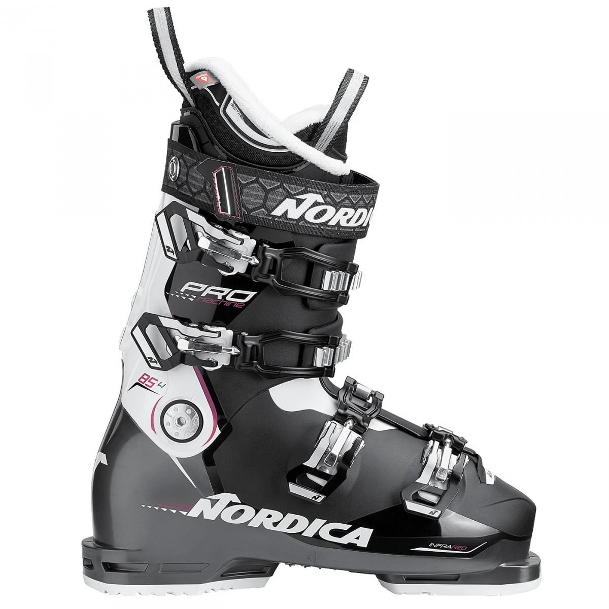 Scarponi sci Nordica Pro Machine 85 W (Colore: nero-bianco, Taglia: 26.5)