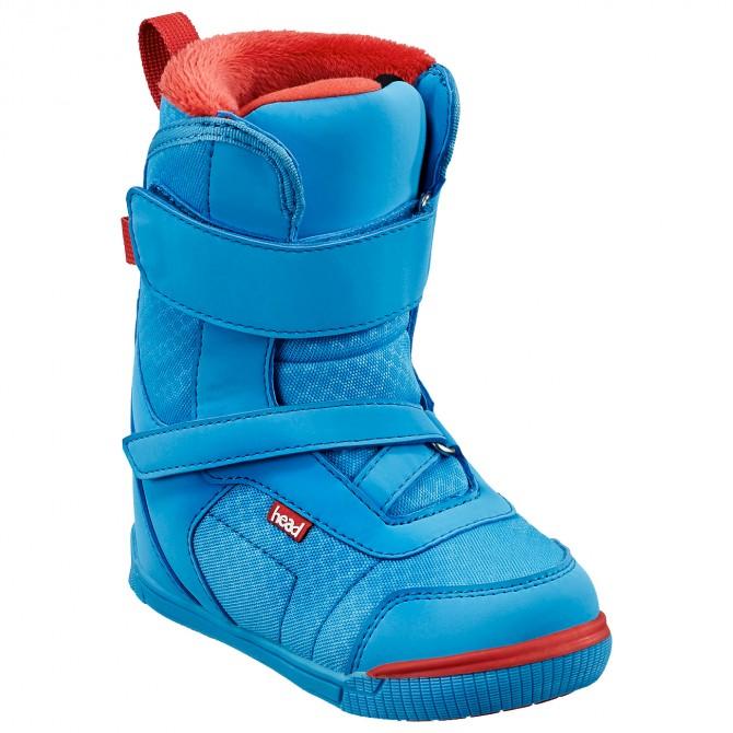 Scarpe snowboard Head Kid Velcro azzurro-rosso