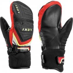 ski gloves Leki Hs Race Coach C-Tech black-red-white