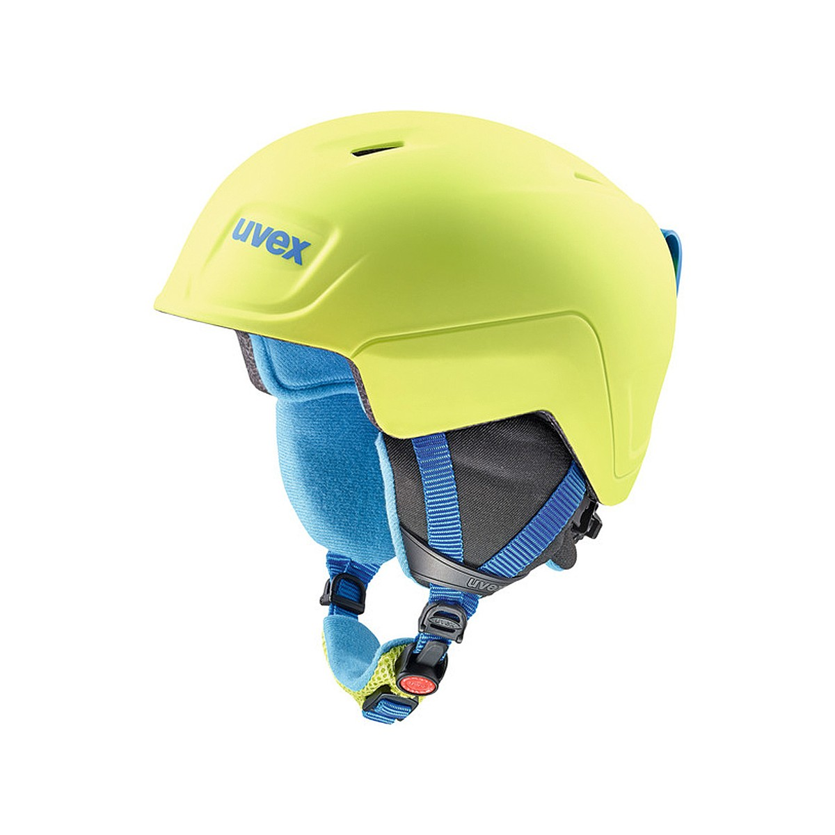 Casco sci Uvex Manic Pro (Colore: blue-lime met mat, Taglia: 51/55)