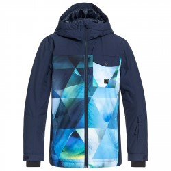 Giacca snowboard Quiksilver Mission Block Bambino