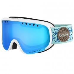 Masque ski Bollé Scarlett blanc-bleu