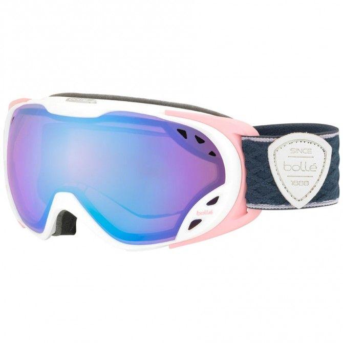 Máscara esquí Bollé Duchess blanco-rosa