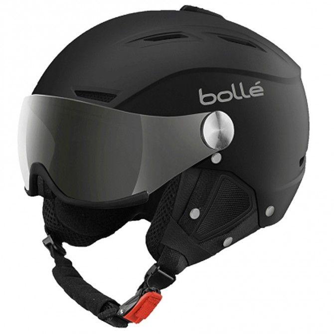 Casco sci Bolle Backline visor Soft nero-silver