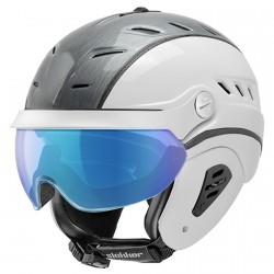 Casque ski Slokker Bakka Visor gris-blanc