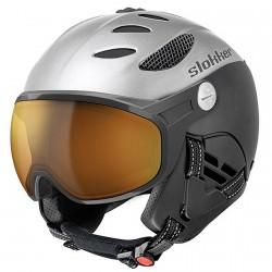 Casco esquí Slokker Balo Visor plata-negro