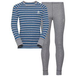 Intimo Odlo Active Sports GREYMELANGE/ENERGYBLUE/STRIPES