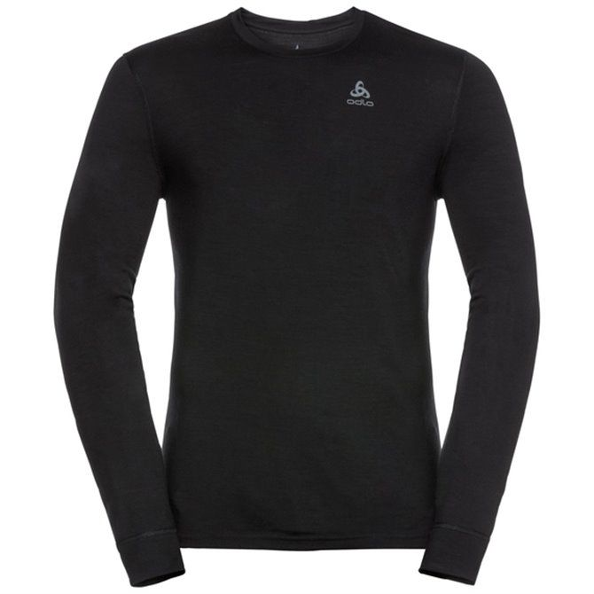 Natural 100% Merino Warm Suw Top Turtle Neck 1/2 Zip Ls NERO/NERONOS