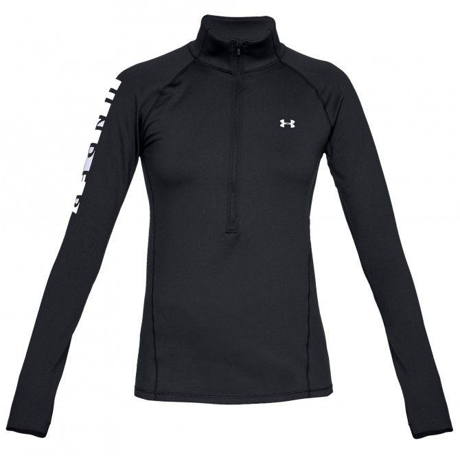 Pullover running Under Armour ColdGear Armour Graphic 1/2 Zip Femme