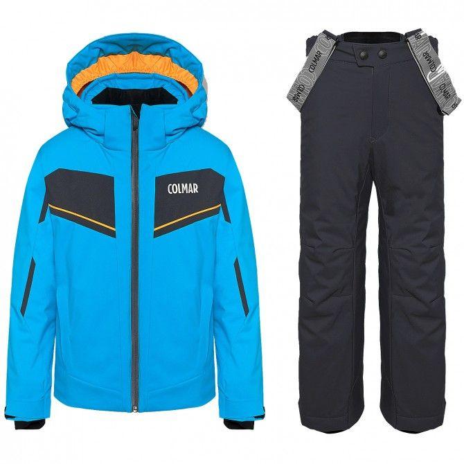 Ensemble ski Colmar Sapporo Garçon bleu clair-gris