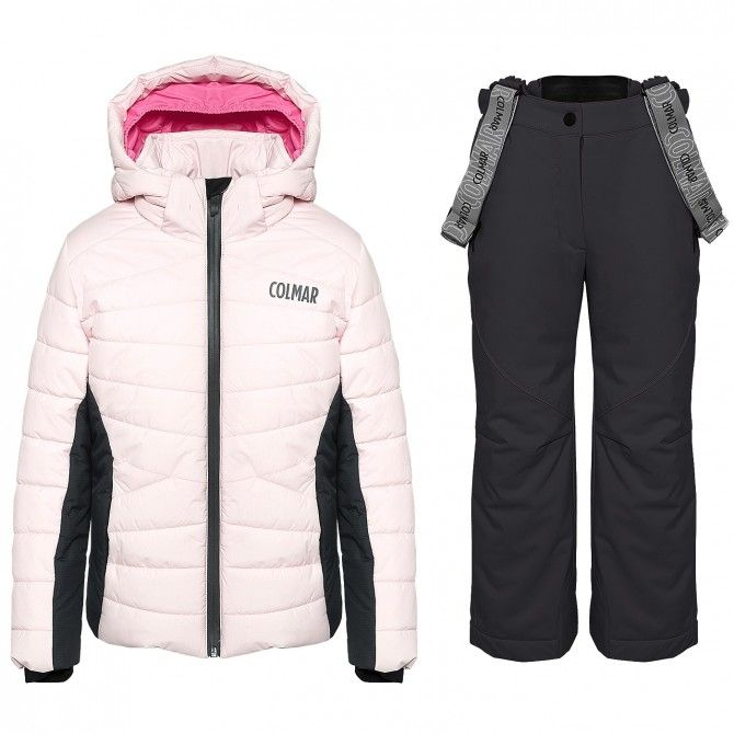 Ski suit Colmar Ecovail Girl pink-grey
