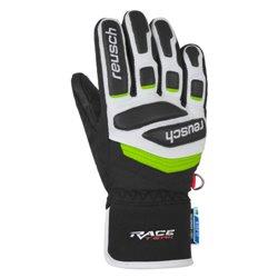 Guanti Sci Reusch Prime Race R-TEX® XT Junior nero-bianco-verde