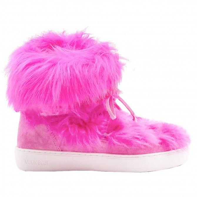 Après-ski Moon Boot Pulse Mid Premium Fur Woman