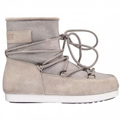 Après-ski Moon Boot Far Side Low Suede Glitter Woman
