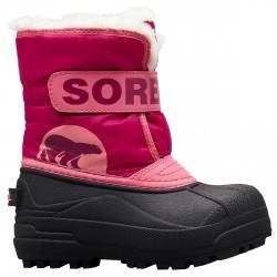 Après-ski Sorel Commander Junior rose-noir (25-31)