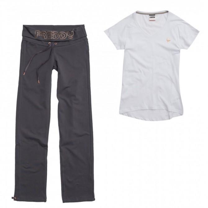 completo Freddy Yoga fit Donna pantalone + t-shirt