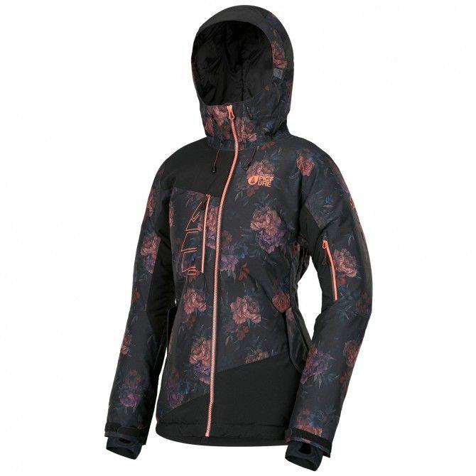 Freeride ski jacket Picture Luna Flower Woman