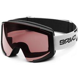 Maschera sci Briko Lava XL Otg P1 matt wh-black-P1