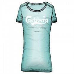t-shirt Carlsberg mujer