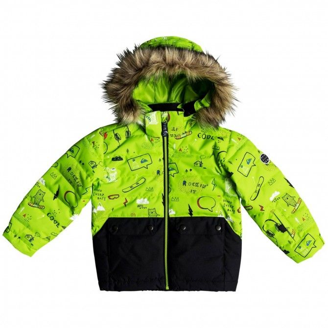 Giacca snowboard Quiksilver Edgy Bambino