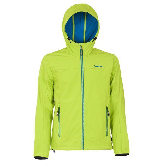 Man Jacket Ws With Hood Bottero Ski ANTRACITE-LIME GREEN