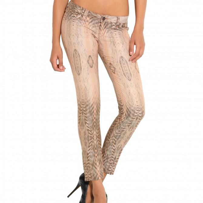 Pantaloni Guess Animal Optical Print Beverly Donna