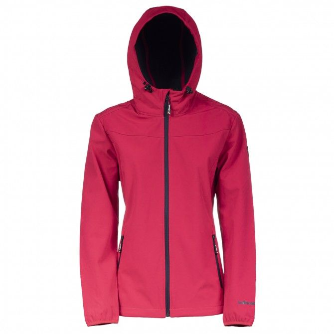 Lady Jacket Fix Hood Ws Bottero Ski B.BLUE-IBISCO