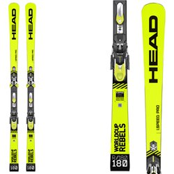 Sci Head Wc Rebels i.Speed Pro Sw + attacchi Freeflex Evo 16 brake 85 HEAD Race carve - sl - gs