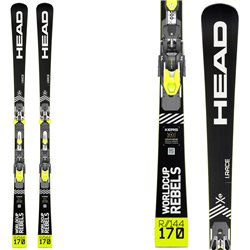Sci Head Wc Rebels i.Race Rp Evo 14 + attacchi Freeflex Evo 14 brake 85 HEAD Race carve - sl - gs