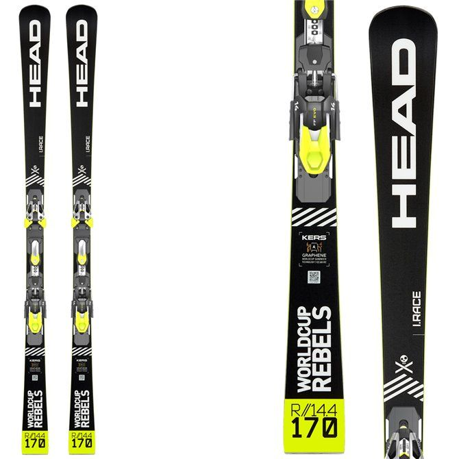 Sci Head Wc Rebels iRace Rp Evo 14 + attacchi Freeflex Evo 14 brake 85 nero-giallo