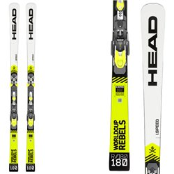 Sci Head Wc Rebels i.Speed Rp Evo 14 + attacchi Freeflex Evo 14 brake 85 HEAD Race carve - sl - gs