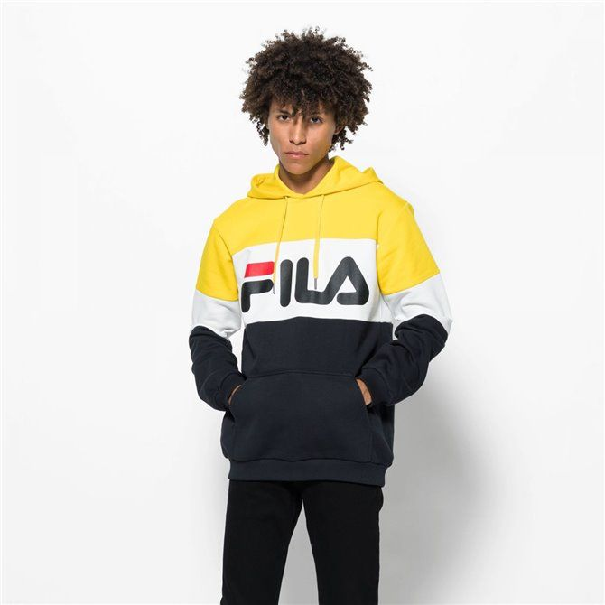 Felpa Fila Night blocked black-empire yellow-brigh