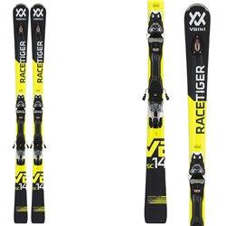 Skis Volkl Racetiger Sc + fixation VMotion 12