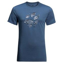 T-shirt Jack Wolfskin Paw ocean wave