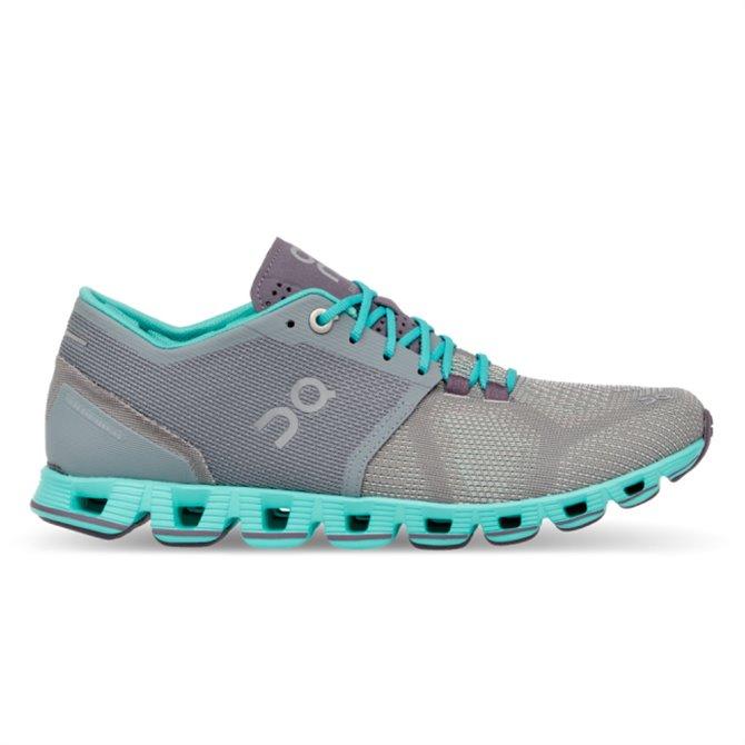 Scarpe running On Cloud X grigio-azzurro