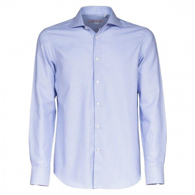 Camicia Canottieri Portofino A73 azzurro-bianco quadri