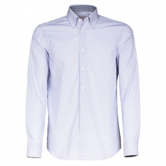 Camicia Canottieri Portofino D60 bianco-azzurro-blu quadro
