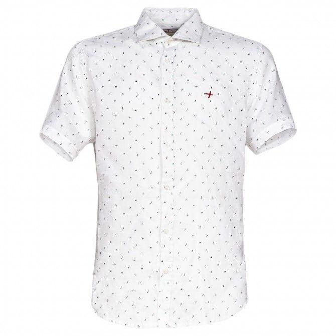 Camicia Canottieri Portofino in lino Bianco