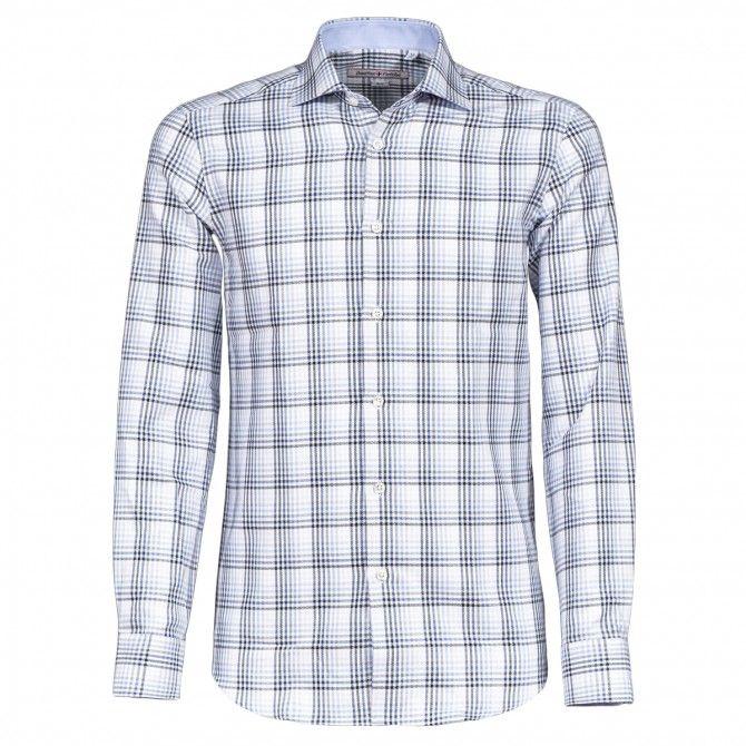 Camicia Canottieri Portofino B94 grigio-azzurro-bianco qua