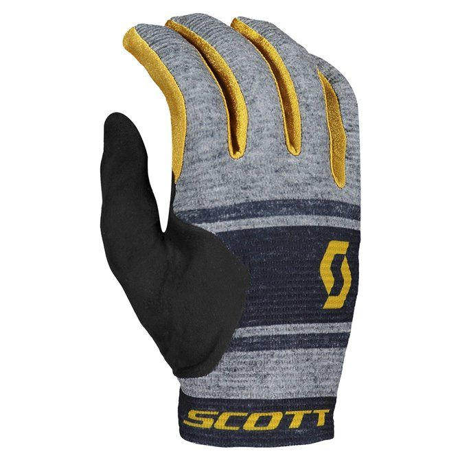Guanti Ciclismo Scott Ridance dark grey-orche yellow