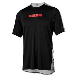 T-shirt Ciclismo FoxFelxair Delta black-grey