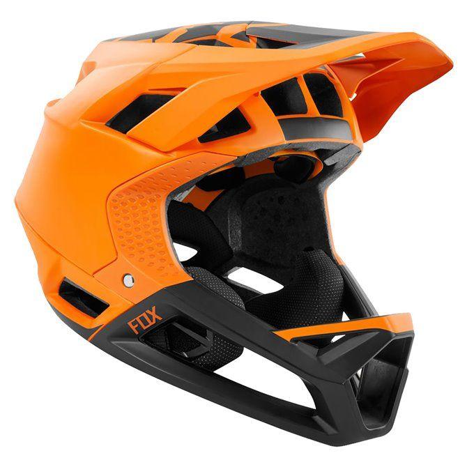 Casco Mtb Fox arancione-nero