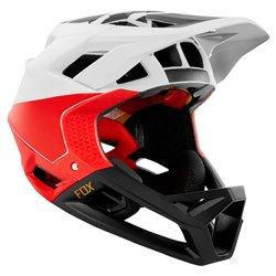Casco Mtb Fox bianco-nero-rosso