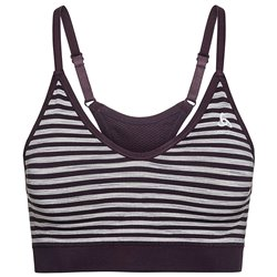 SPORTS BRA PADDED SEAMLESS SOFT PLUM PERFECT/GREY MELANG