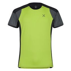 T-shirt trail-running Montura Outdoor verde acido-piombo