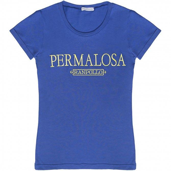 T-shirt Ranpollo Permalosa royal-giallo