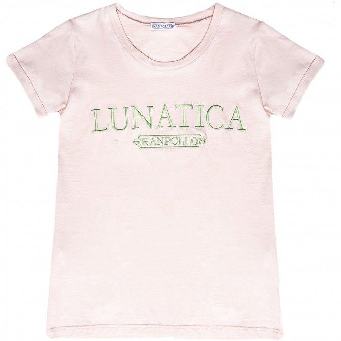 T-shirt Ranpollo Lunatica rosa-verde
