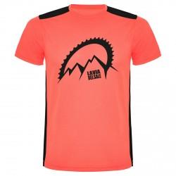 Maglia ciclismo Bottero Ski La Via del Sale corallo fluo-nero